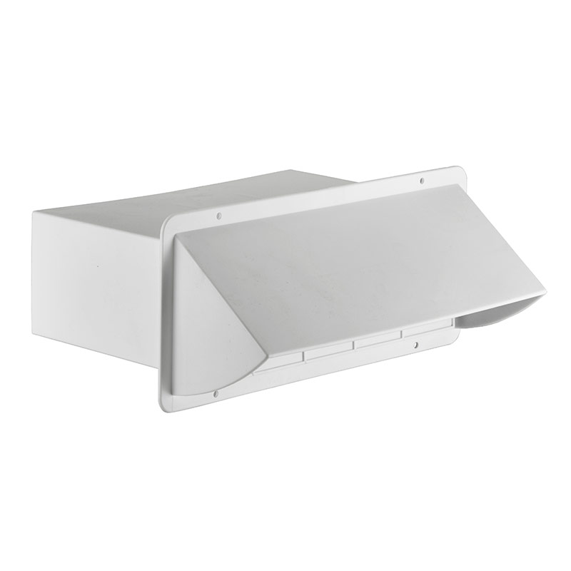 "Kitchen Exhaust Vent Wall Cap: 3 1/4"" X 10"" White Plastic Wall Cap > Lambro Industries, Inc"