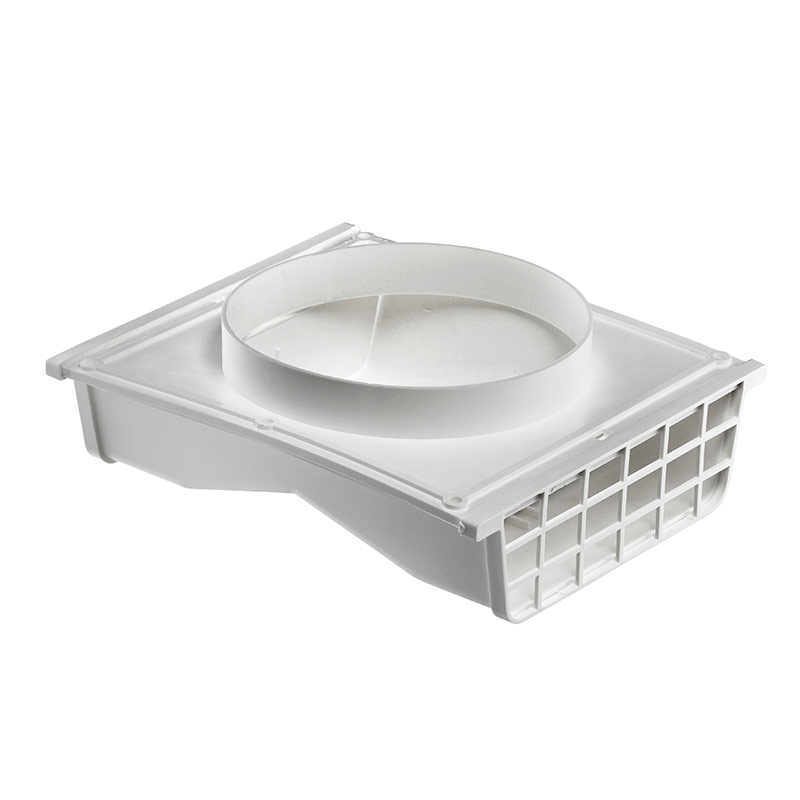 4 or 6 white plastic under eave vent lambro industries for Bathroom design under eaves