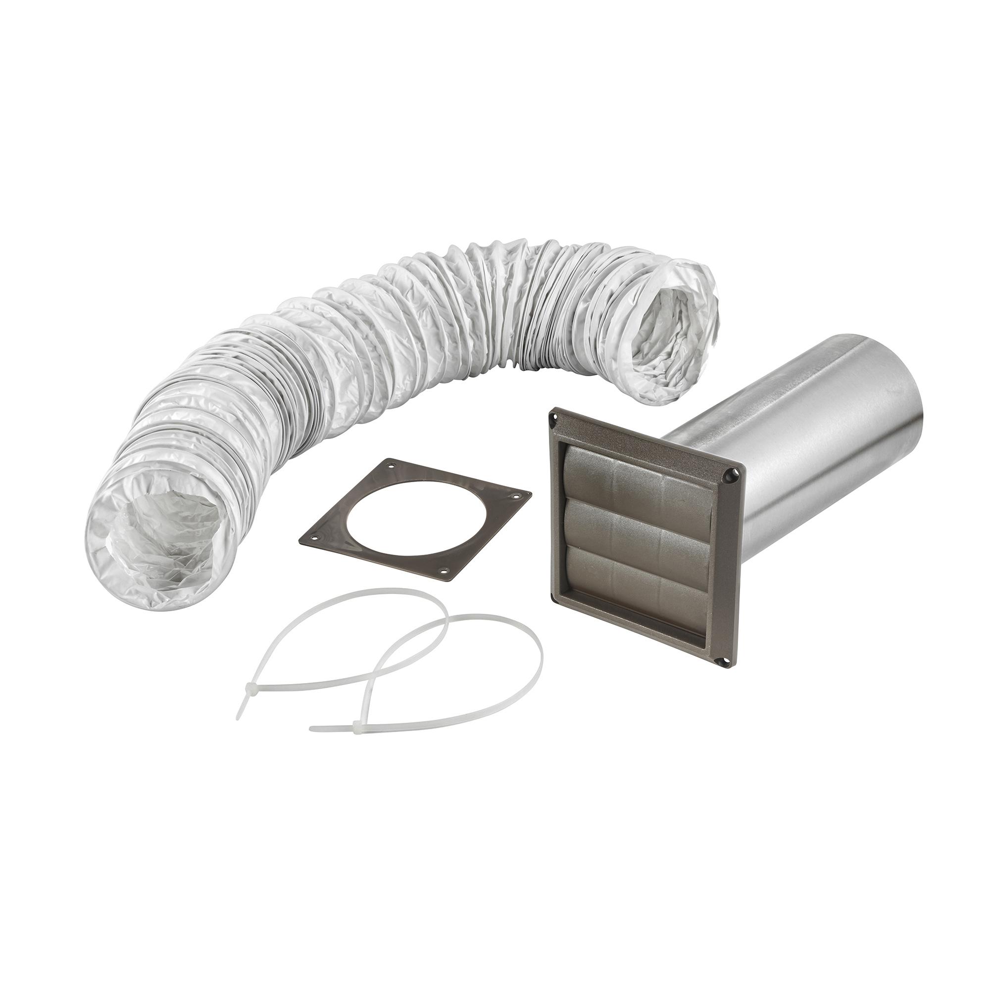 Quot vinyl duct louvered vent kit gt lambro industries inc