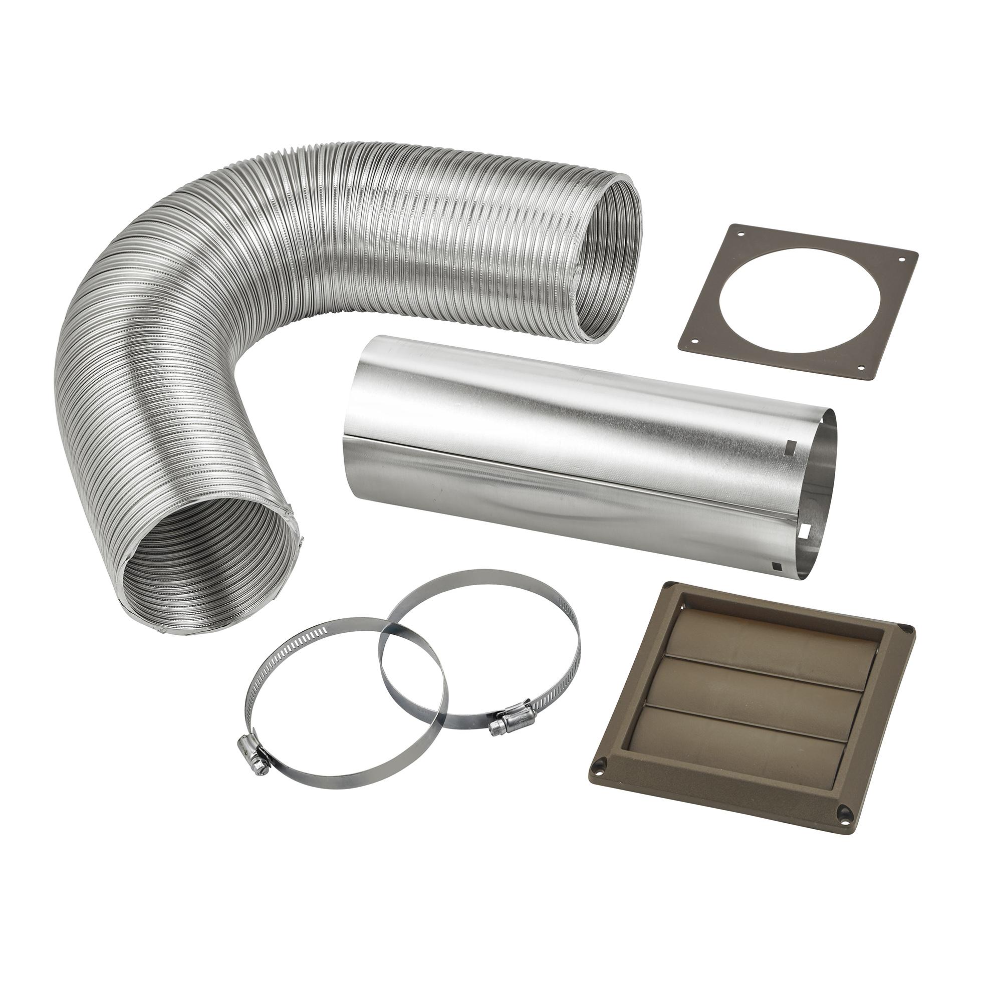 4 Quot X 8 Flexible Semi Rigid Aluminum Duct Louvered Vent