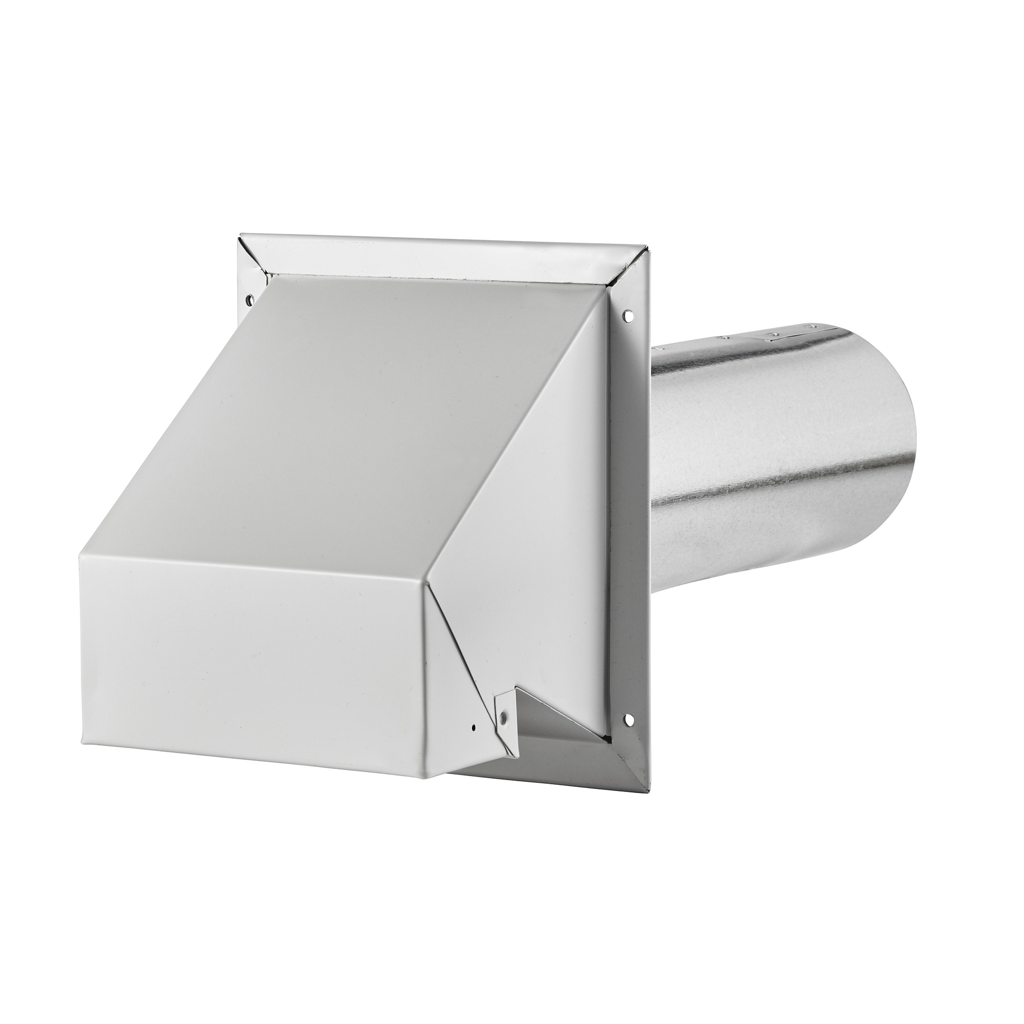 """Kitchen Exhaust Vent Wall Cap: 4"""" White R2 Style Wall Exhaust Hood > Lambro Industries, Inc"""